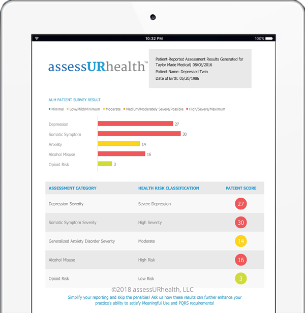 assessurhealth-screening-tool-results