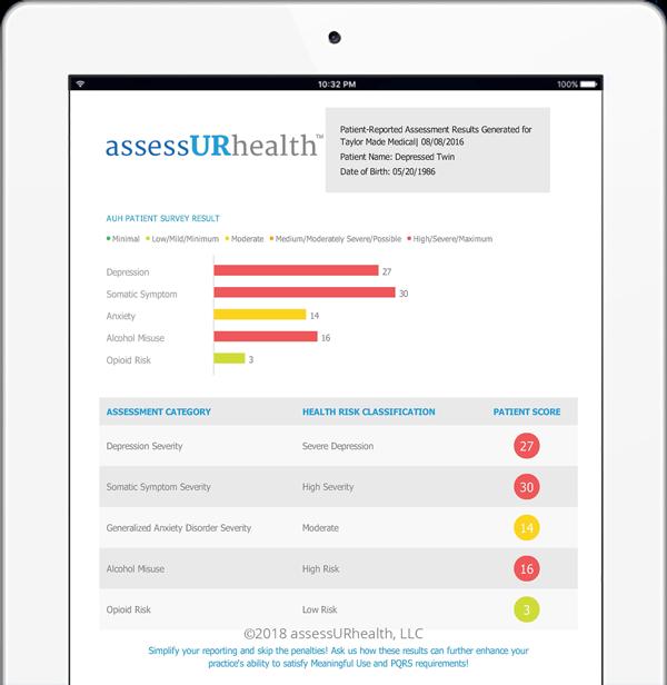 assessurhealth-screening-tool-results